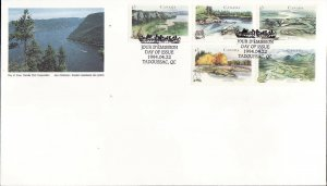 Canada-Sc#1515a-stamps on FDC-Heritage Rivers-1994-