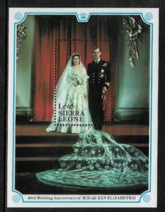 Sierra Leone #953 MNH S/Sheet - 40th Royal Wedding Anniversary
