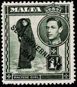 MALTA SG243, 1s black, NH MINT.