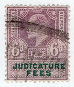 (I.B) Edward VII Revenue : Judicature Fees 6d