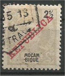 MOZAMBIQUE, 1911, used 21/2r Overprinted Scott 99