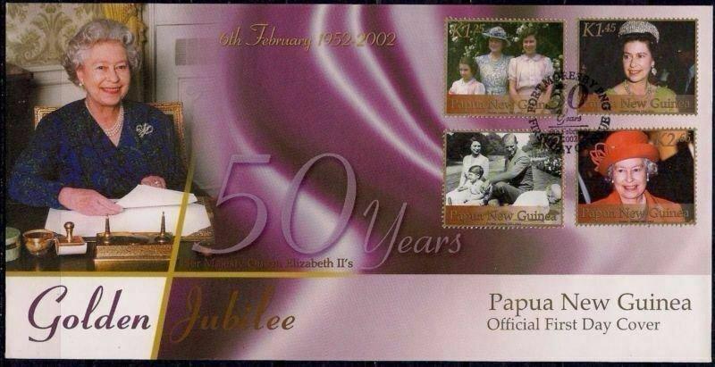 Papua New Guinea FDC Golden Jubilee QE II 2002