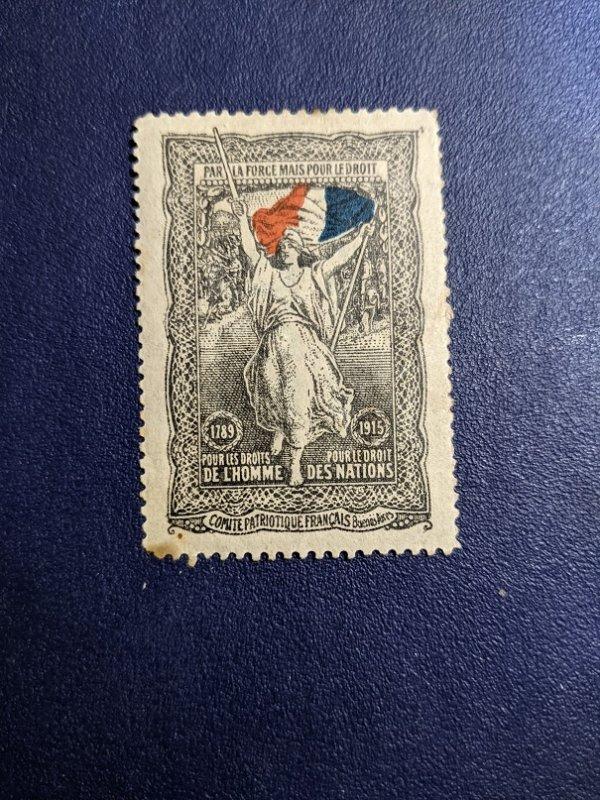 France - Comite Patriotique Francais Buenos Aires Flag, Superb, CV $11.95