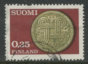 Finland - Scott 442- Anniv. Finnish Insurance -1966- Used - Single 35p stamp
