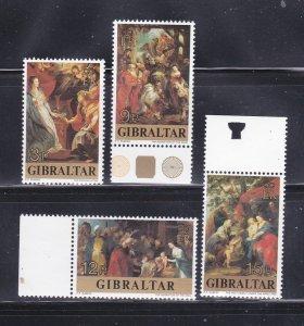 Gibraltar 359-362 Set MNH Christmas