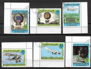 1982 Mauritania 522-7 Manned Flight Bicentenary C/S of 6 used.