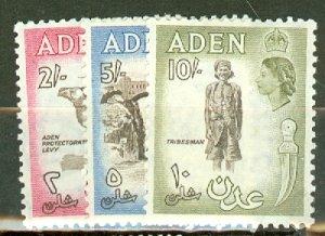 CS: Aden 49-61A, 49a, 50a, 51a, 52b, 53a, 54a mint CV $88