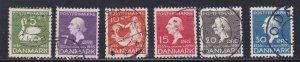 Denmark # 246-251, Hans Christian Anderson, Used, 1/2 Cat.