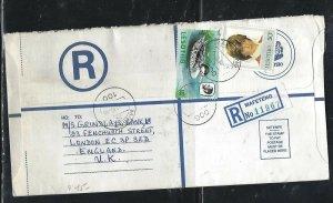 LESOTHO (PP0310B) 1982 LONG RLE+ 10S  BIRD+LADY DI REG MAFETENG TO ENGLAND