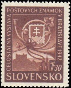 Slovakia #70-73, Complete Set(4), 1942, Hinged