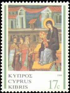 Cyprus #713-715, Complete Set(3), 1988, Christmas, Never Hinged