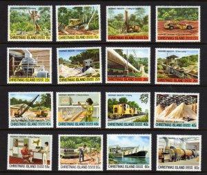 Christmas Island #95-110 Mint MNH Unused NH Phosphate Industry Drilling Crane