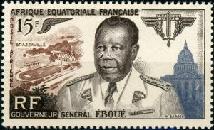 French Equatorial Africa #C42 Gov. Gen. Felix Eboue ~ (8058)