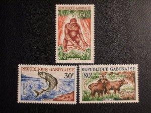 Gabon Scott #172-174 unused