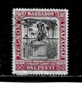 Barbados Stamp- Scott # 104/A10-1p-Canc/LH-1906-NG
