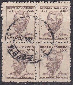 Brazil Sc #527 Used Block of 4