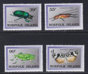 Norfolk Island # 448-451, Indigenous Insects, NH, 1/2 Cat.