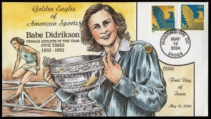 Collins Handpainted FDC : Babe Didrikson Female Athlete of the year (5/12/2004)