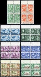 SARAWAK SG204/11 1964-65 Wmk w12 set of 8 in Blocks of Four all SIBU CDS