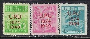 CUBA 449-51 MNH Z3560