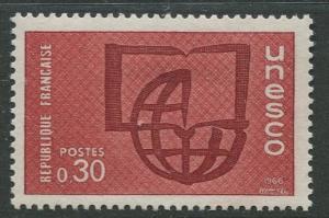 France Unesco - Scott 207 - Unesco Issue -1966 - MLH - Single 30c Stamp