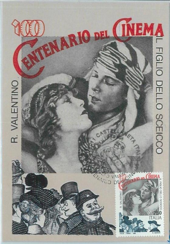 67276 - ITALY  - Postal History -  MAXIMUM CARD  - CINEMA 1995 R Valentino