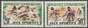 Central African Repub #19-20 MNH VF (SU2303)