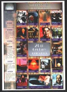 Saint Vincent and the Grenadines. 1999. ml 4744-60. Millennium, Politics, Sci...