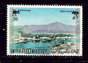 United Arab Emirates 68 Used 1975 Surcharge