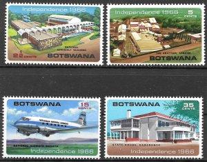Botswana Establishment of Republic set of 1966, Scott 1-4 MNH