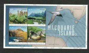 AAT55) Australian Antarctic Territory 2010 Macquarie Island Minisheet MUH