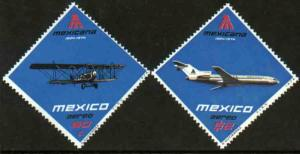 MEXICO C430-C431, 50th Anniversary of Mexicana Airlines MINT, NH. F-VF.