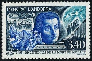 Andorra FR 409 MNH Wolfgang Amadeus Mozart, Music, Instruments