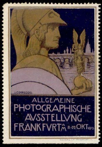 Germany 1913 Frankfurt Photography Expo Poster Stamp