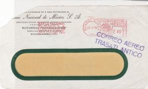 Mexico 1958 Banco National De Mexico Jal Airmail Stamps Cover FRONT  R 17676