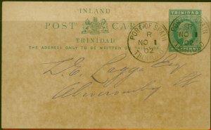 Trinidad 1902 1/2d Business Postcard Fine & Attractive