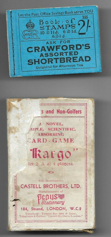 BC2 2/- Booklet Edition 355 - with 'Kargo' Advert Pane no.6 & Kargo ccard game