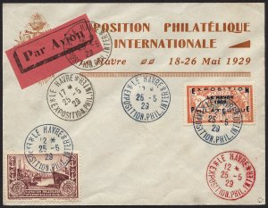 France Scott #246, Maury 257A, on Expo cover with cinderalla + etiquette SUPERB!