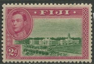 Fiji - SG 255a - KGVI - Definitive-1946 - MVLH - Perf. 12 -Single 2d Stamp