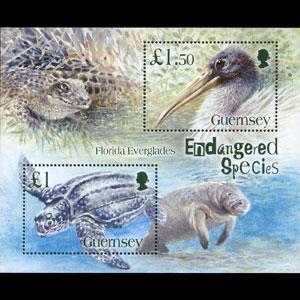GUERNSEY 2006 - Scott# 892 S/S Endang.Species NH