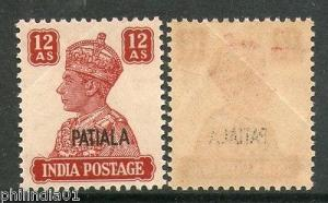 India PATIALA State KG VI 12As Postage SG-115 / Sc 114 Cat. £35 MNH