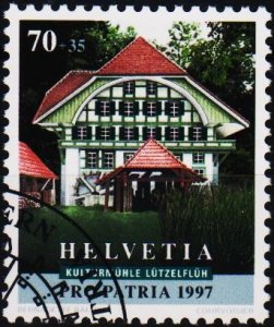 Switzerland. 1997 70c+35c. S.G.1354  Fine Used