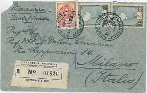ARGENTINA - POSTAL HISTORY: COVER to ITALY 1952