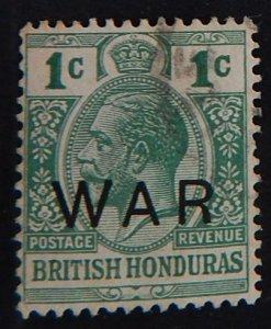 British Honduras War Tax 1c, 1917 (2126-T)