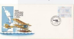 New Zealand 1990 Vending machine label  stamps cover R19923