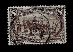 US 1898 SC # 289 8 c Trans-Mississippi Used - Light Cancel - Crisp Color