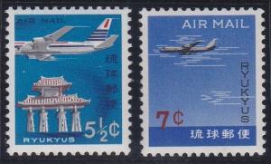 Ryukyu Islands C29-C30 MNH (1963)