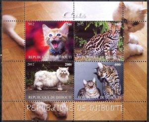 Djibouti 2012 Cats (1) MNH Cinderella !