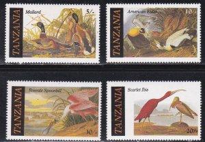 Tanzania MNH 306-9 Audubon Birds 1986