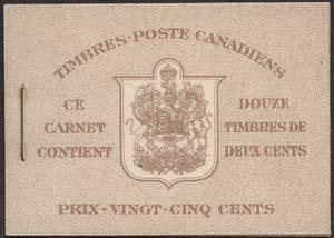 Canada - 1937 2c Brown KGVI French Booklet #BK29c